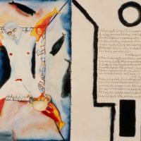 Allen-Ginsberg,-Francesco-Clemente--White-Shroud--1983--Ink,-pencil,-watercolor-on-paper