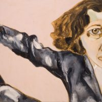 Fran-Lebowitz--1998--Oil-on-canvas
