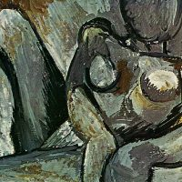 Pablo-Picasso-Reclining-Nude-detail-1908